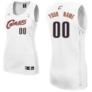 Camiseta NBA Cleveland Cavaliers Swingman Personalizadas Home Adidas Blanco - Mujer