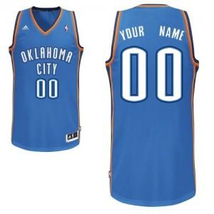 Camisetas Baloncesto Adolescentes NBA Oklahoma City Thunder Road Swingman Personalizadas Azul real
