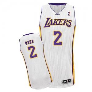 Los Angeles Lakers Adidas Alternate Blanco Authentic Camiseta de la NBA - Brandon Bass #2 - Hombre