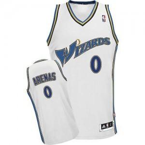 Camisetas Baloncesto Hombre NBA Washington Wizards Swingman Gilbert Arenas #0 Blanco