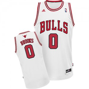 Camiseta NBA Chicago Bulls Aaron Brooks #0 Home Adidas Blanco Swingman - Hombre