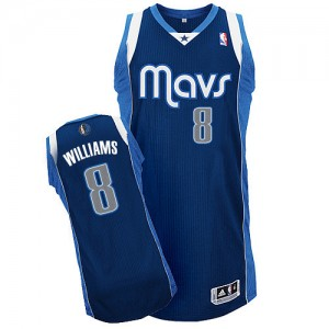 Dallas Mavericks Adidas Alternate Azul marino Authentic Camiseta de la NBA - Deron Williams #8 - Mujer