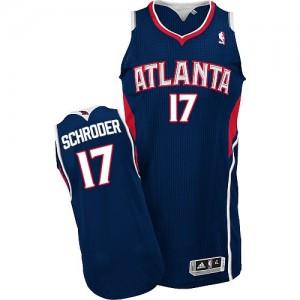 Camiseta NBA Road Atlanta Hawks Azul marino Authentic - Hombre - #17 Dennis Schroder