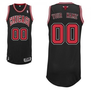 Camiseta NBA Chicago Bulls Authentic Personalizadas Alternate Adidas Negro - Adolescentes