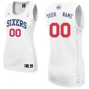 Camiseta NBA Philadelphia 76ers Swingman Personalizadas Home Adidas Blanco - Mujer