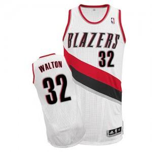 Camisetas Baloncesto Hombre NBA Portland Trail Blazers Home Authentic Bill Walton #32 Blanco