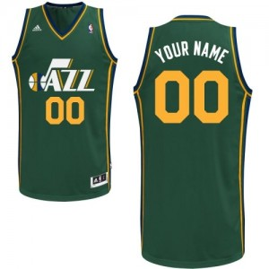 Camiseta NBA Alternate Utah Jazz Verde - Adolescentes - Personalizadas Swingman