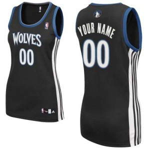 Camiseta NBA Authentic Personalizadas Alternate Negro - Minnesota Timberwolves - Mujer