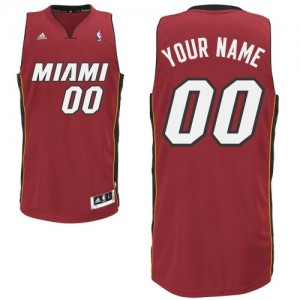 Camiseta Swingman Personalizadas Miami Heat Alternate Rojo - Hombre