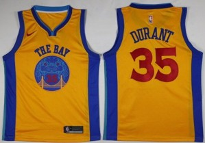 Camiseta Swingman City Edition Kevin Durant #35 Oro - Golden State Warriors