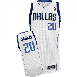 Dallas Mavericks Adidas Home Blanco Authentic Camiseta de la NBA - Devin Harris #20 - Hombre