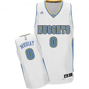 Camiseta NBA Swingman Emmanuel Mudiay #0 Home Blanco - Denver Nuggets - Hombre