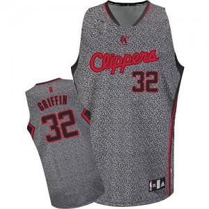 Camisetas Baloncesto Hombre NBA Los Angeles Clippers Static Fashion Authentic Blake Griffin #32 Gris