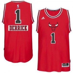 Chicago Bulls Adidas 2014-15 Christmas Day Rojo Swingman Camiseta de la NBA - Derrick Rose #1 - Hombre
