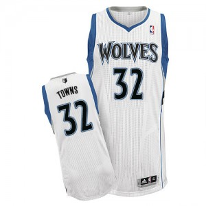 Minnesota Timberwolves Adidas Home Blanco Authentic Camiseta de la NBA - Karl-Anthony Towns #32 - Hombre