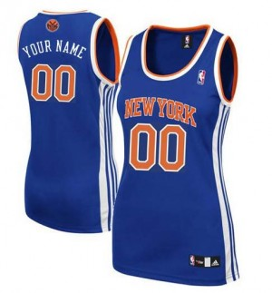 Camiseta NBA Authentic Personalizadas Road Azul real - New York Knicks - Mujer