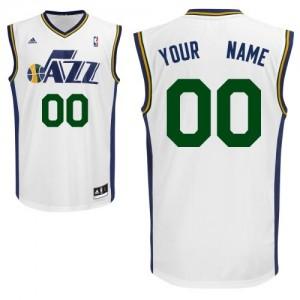 Utah Jazz Adidas Home Blanco Camiseta de la NBA - Swingman Personalizadas - Hombre