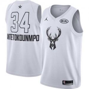 Milwaukee Bucks Jordan 2018 All-Star Game Blanco Swingman Camiseta de la NBA - Giannis Antetokounmpo #34 - Niño