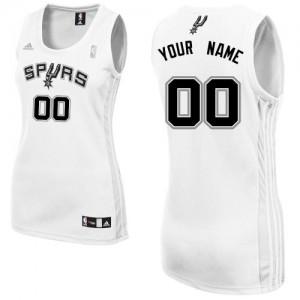 San Antonio Spurs Adidas Home Blanco Camiseta de la NBA - Swingman Personalizadas - Mujer