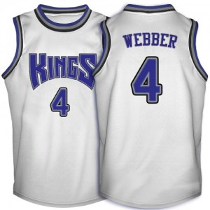 Camiseta NBA Throwback Sacramento Kings Blanco Swingman - Hombre - #4 Chris Webber