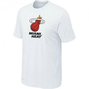 Hombre T-Shirts Miami Heat Big & Tall Blanco