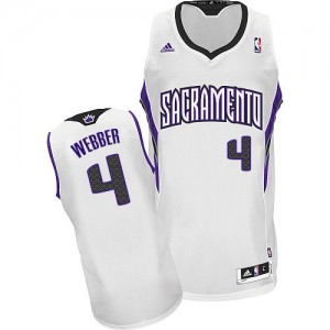 Camiseta NBA Home Sacramento Kings Blanco Swingman - Hombre - #4 Chris Webber
