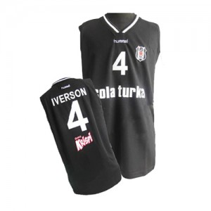 Camiseta NBA Philadelphia 76ers Negro Swingman - Hombre - #4 Allen Iverson