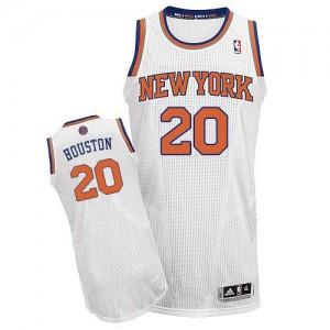 Camiseta NBA Authentic Allan Houston #20 Home Blanco - New York Knicks - Hombre