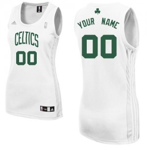 Camiseta NBA Boston Celtics Swingman Personalizadas Home Adidas Blanco - Mujer