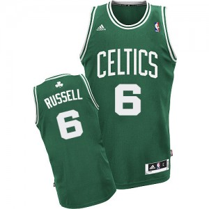 Camiseta Swingman Bill Russell #6 Boston Celtics Road Verde (Blanco No.) - Hombre