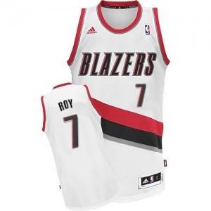 Camisetas Baloncesto Hombre NBA Portland Trail Blazers Home Swingman Brandon Roy #7 Blanco