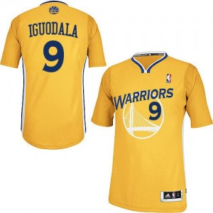 Camisetas Baloncesto Hombre NBA Golden State Warriors Alternate Authentic Andre Iguodala #9 Oro
