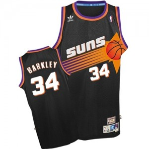 Camiseta NBA Phoenix Suns Charles Barkley #34 Throwback Adidas Negro Authentic - Hombre