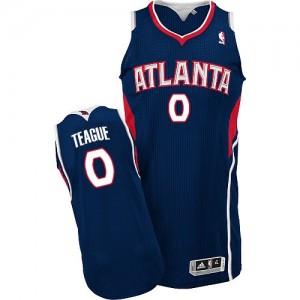 Camiseta NBA Road Atlanta Hawks Azul marino Authentic - Hombre - #0 Jeff Teague