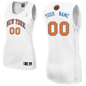 Camiseta NBA New York Knicks Authentic Personalizadas Home Adidas Blanco - Mujer
