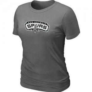 Mujer T-Shirts San Antonio Spurs Big & Tall Gris oscuro