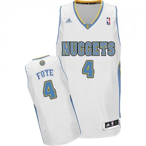 Camiseta NBA Denver Nuggets Randy Foye #4 Home Adidas Blanco Swingman - Hombre