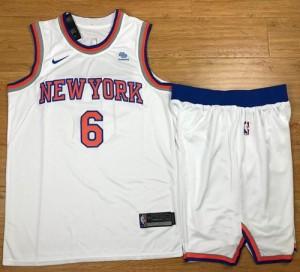 Camiseta New York Knicks Kristaps Porzingis #6 A Set Blanco Swingman Association Edition Niño