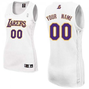 Camisetas Baloncesto Mujer NBA Los Angeles Lakers Alternate Authentic Personalizadas Blanco