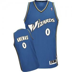Camiseta NBA Washington Wizards Azul Authentic - Hombre - #0 Gilbert Arenas