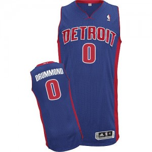 Hombre Camiseta Andre Drummond #0 Detroit Pistons Adidas Road Azul real Authentic