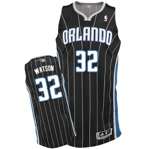 Camiseta NBA Orlando Magic C.J. Watson #32 Alternate Adidas Negro Authentic - Hombre