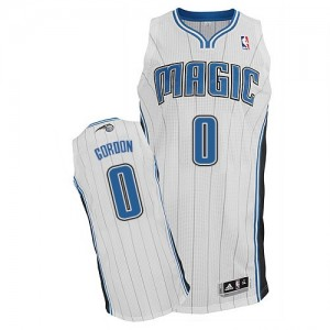 Camiseta NBA Orlando Magic Aaron Gordon #0 Home Adidas Blanco Authentic - Hombre