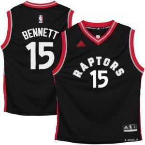 Camisetas Baloncesto Hombre NBA Toronto Raptors Swingman Anthony Bennett #15 Negro