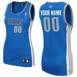 Mujer Camiseta Authentic Personalizadas Dallas Mavericks Adidas Road Azul real