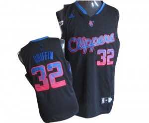 Camisetas Baloncesto Hombre NBA Los Angeles Clippers Vibe Authentic Blake Griffin #32 Negro