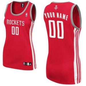 Houston Rockets Adidas Road Rojo Camiseta de la NBA - Authentic Personalizadas - Mujer