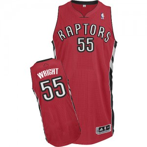 Camiseta Authentic Delon Wright #55 Toronto Raptors Road Rojo - Hombre
