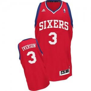 Camiseta NBA Road Philadelphia 76ers Rojo Swingman - Hombre - #3 Allen Iverson