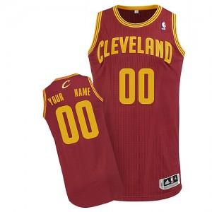 Camiseta NBA Cleveland Cavaliers Authentic Personalizadas Road Adidas Vino Rojo - Hombre